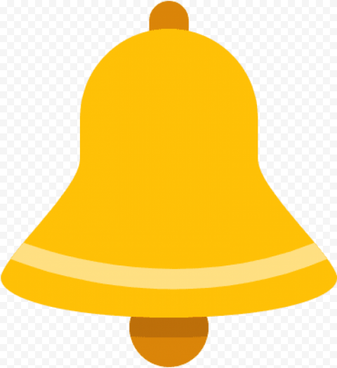Gold Bell Icon Youtube Notification