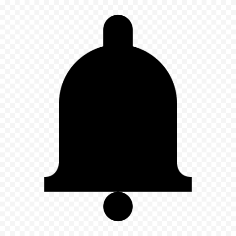 Simple Black Bell Youtube Notification Icon