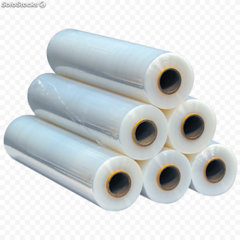 Group Of Transparent Cling Film Rolls