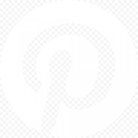 Round White Pinterest Logo