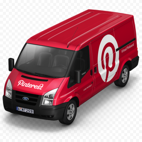 Red 3D Van Pinterest Logo Icon Marketing