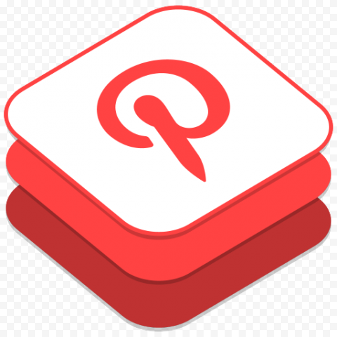 Square 3D Pinterest App Icon iOs Style