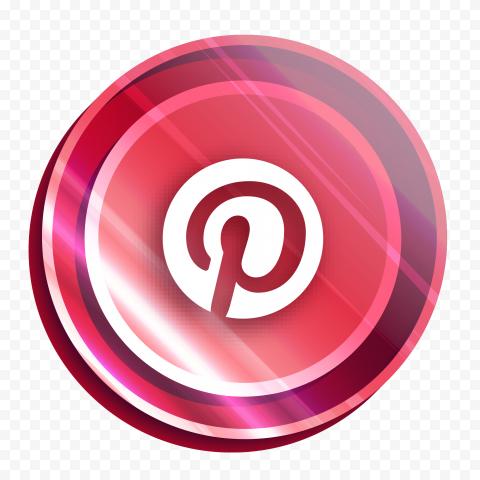Illuminated Bright Round Pink Pinterest Logo Icon