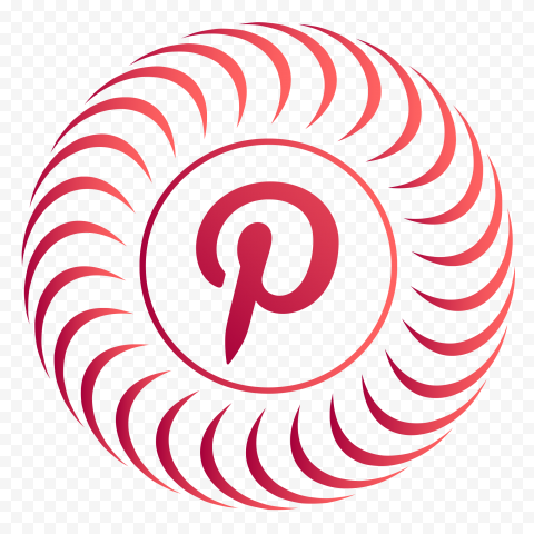 Pink Pinterest Circular Social Media Logo Icon