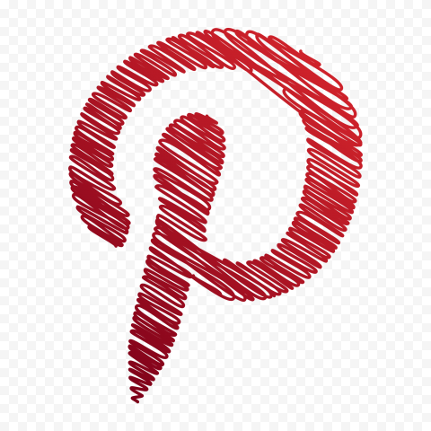 Pinterest Creative Logo Red Scribble Sketch