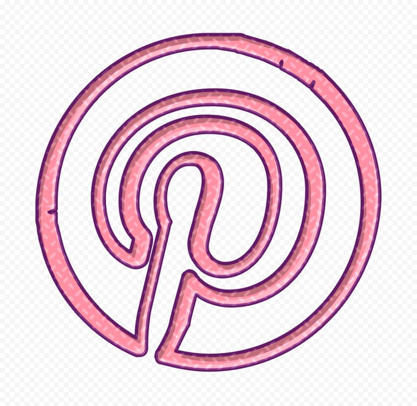 Spiral Circle Pink Pinterest Icon
