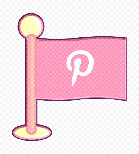 Pink Pinterest Flag Icon