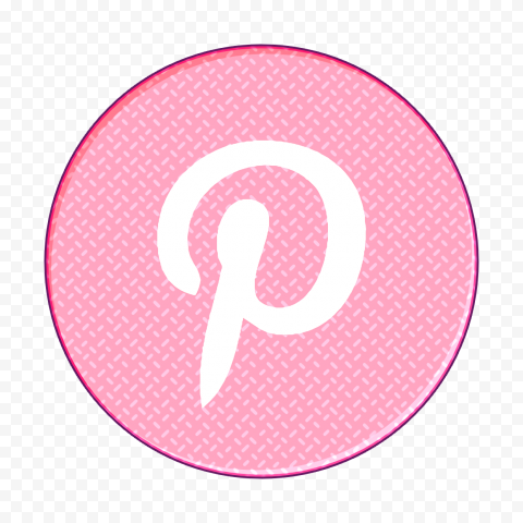 Pinterest Social Media Cute Pink Girly Round Icon