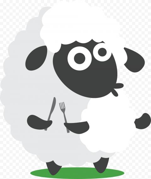 Cartoon Sheep Clipart Illustration