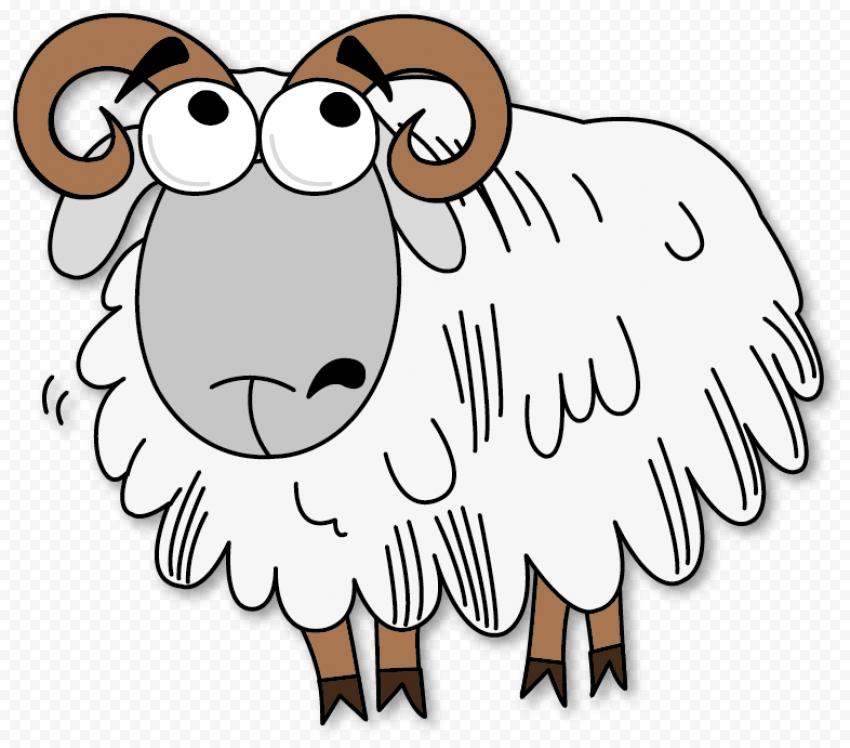 Sad Cartoon Sheep Clipart