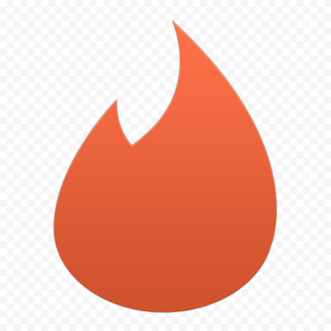Old Tinder Orange Sign Symbol Logo Flame Icon