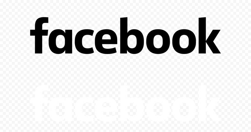 Black And White Facebook Text Logo