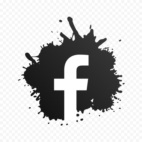 Black Splash White F Facebook Letter Symbol