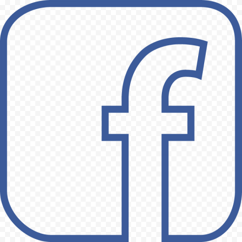 Square Blue Outline Facebook Fb Logo Icon