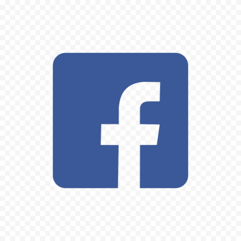 Blue Square Form Contains Outline Fb Facebook Logo
