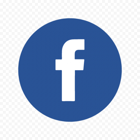 Round Blue Circle Contains F Letter Facebook Logo