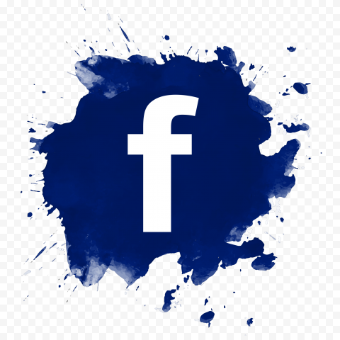 Blue Splash Facebook Fb Logo Icon Design
