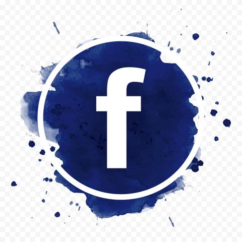Round Blue Splash Facebook Fb Logo Icon Design