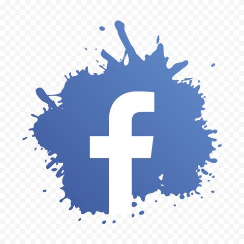 Facebook Logo Splash Design Icon