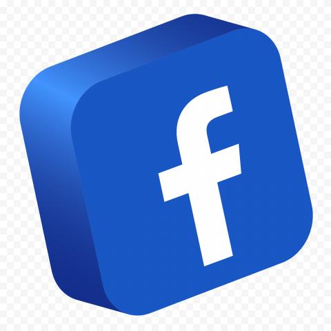 3D Facebook Logo Mobile App Icon