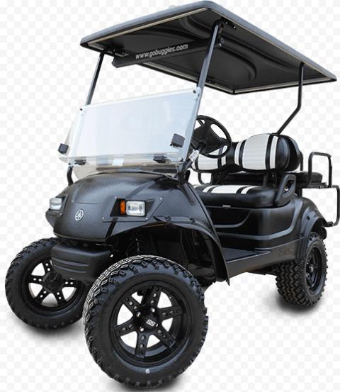 Black Golf Buggies Cart Car Vehicle Two Seater