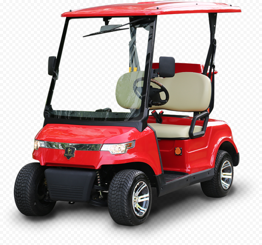 Golf Buggies Red Cart Corner Front View