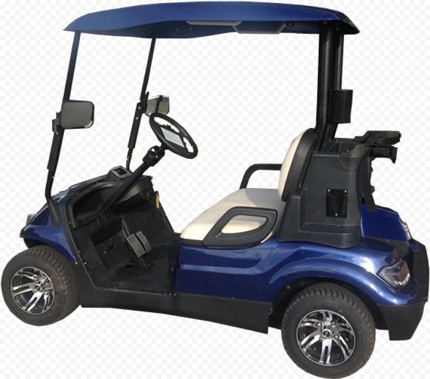 Golf Buggies Blue Cart Side View