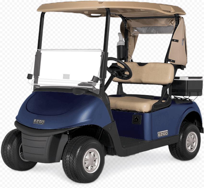 Golf Buggies Blue Cart Front View