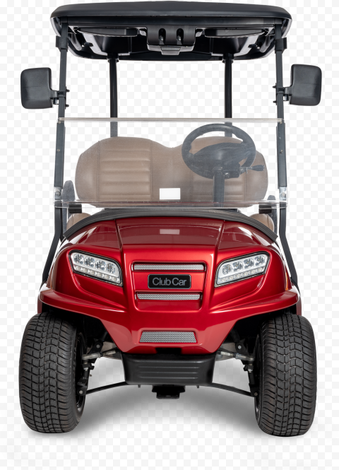 Red Club Car Front View Buggy Golf Cart