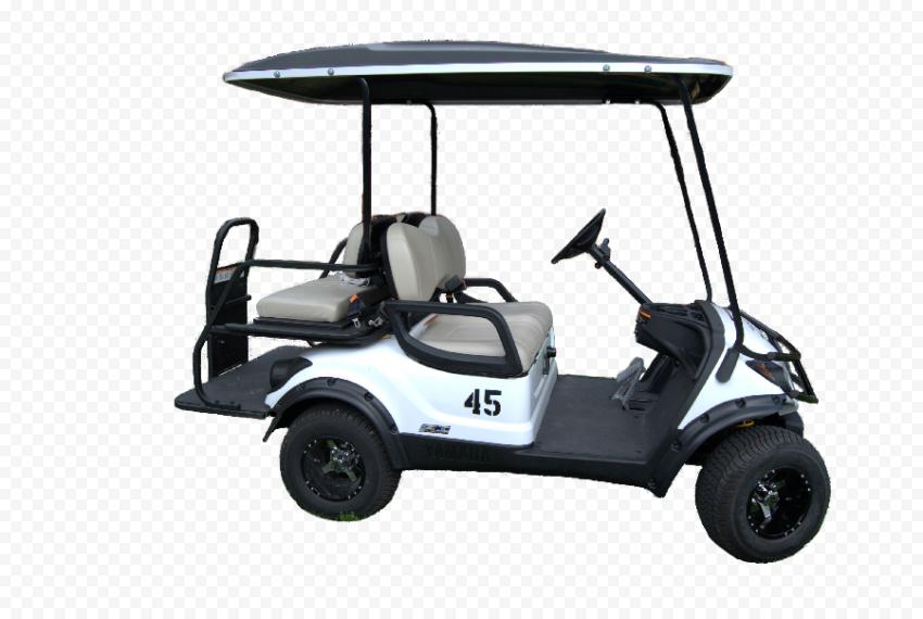White Golf Buggy Cart Motor Vehicle