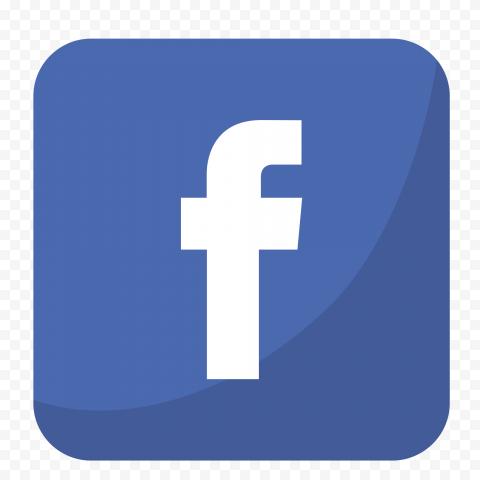Blue Square Flat Facebook App Logo Icon