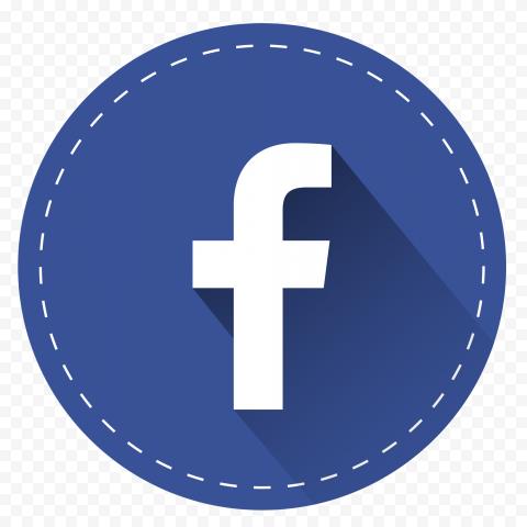 Blue Circle Round Flat Facebook Icon