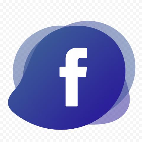 Facebook Blue Liquid Drop Icon Logo