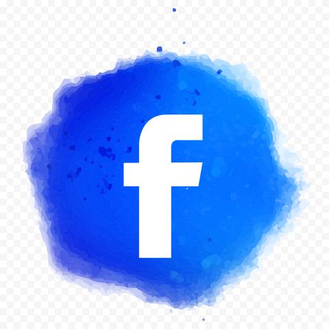 Blue Watercolor Effect Facebook Fb Icon
