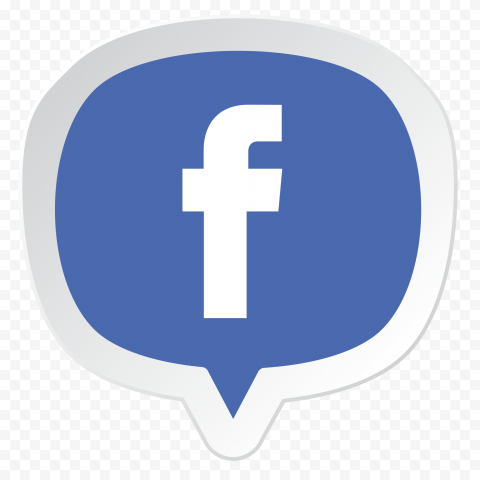 Facebook Pin Illustration Vector Icon Logo