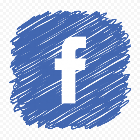 Facebook Icon Logo Square Scribble Effect