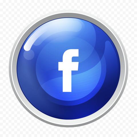 Round Facebook Logo Icon Button