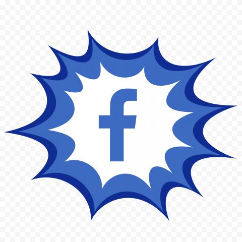 Comic Style Facebook Fb Icon Logo Clipart