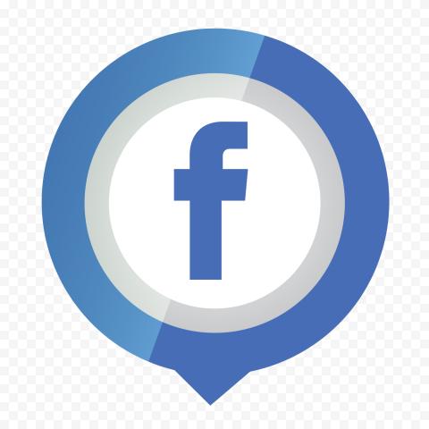Facebook Pin Location Illustration Icon Logo