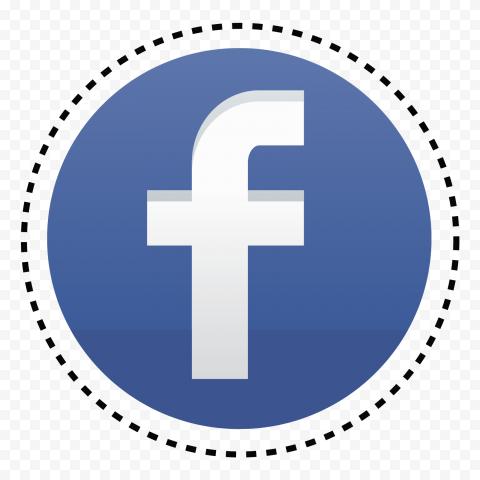 Round Circular Facebook Fb Icon Logo Dotted Style