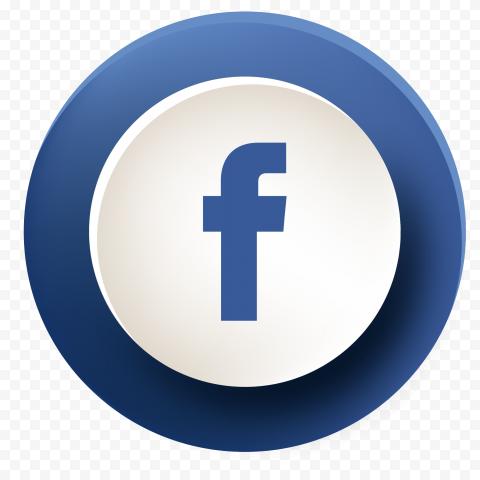 Round Facebook Fb Button Illustrator Vector Icon