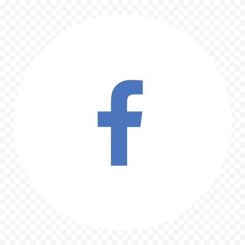 White Circle Contains Blue Facebook F Letter