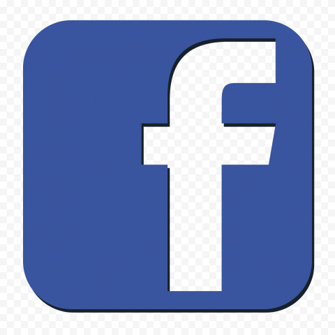Square Facebook F Icon 3D Effect