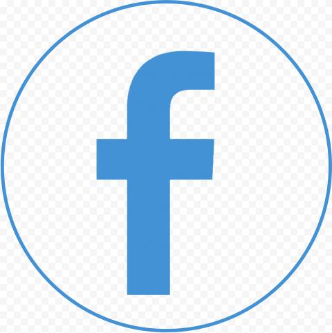 Round Circular Outline Fb Facebook Logo Icon