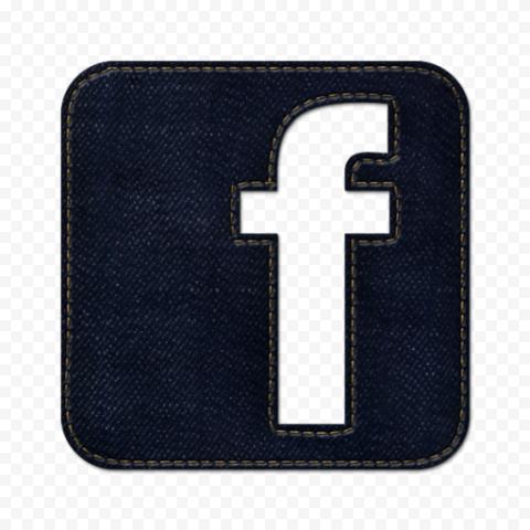 Square Facebook Fb Icon Dark Jeans Effect