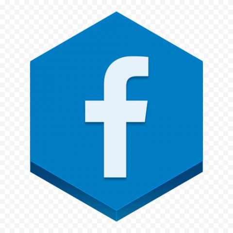 Blue Hexagon Facebook Fb Logo Icon Social Media