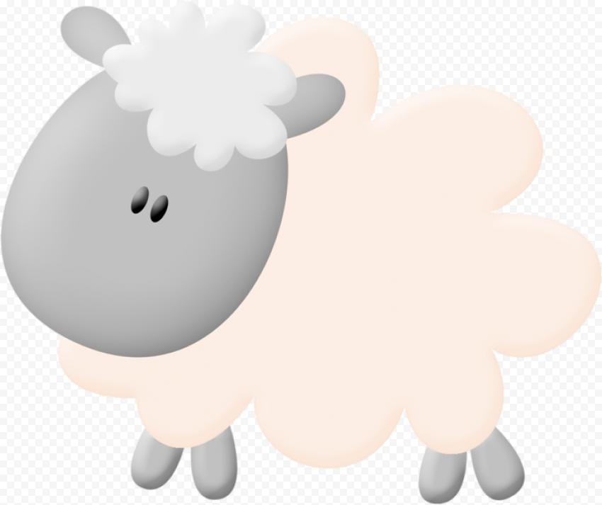 Cartoon Clipart Sheep Illustration Vector