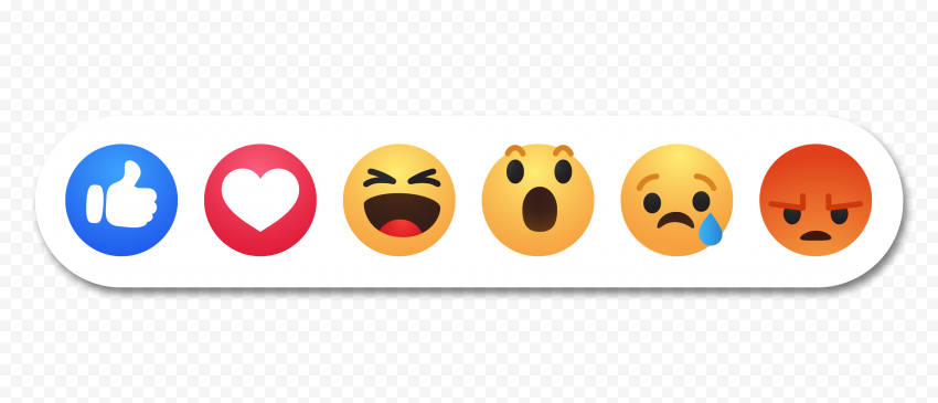 All Facebook Reactions Emoji Icons