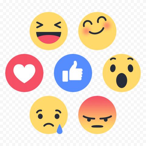 Group Of Facebook Fb Social Media Emoji React