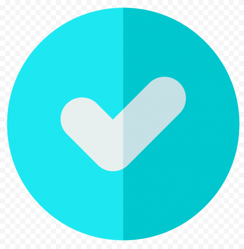 Tiktok Round Verified Check Blue Icon